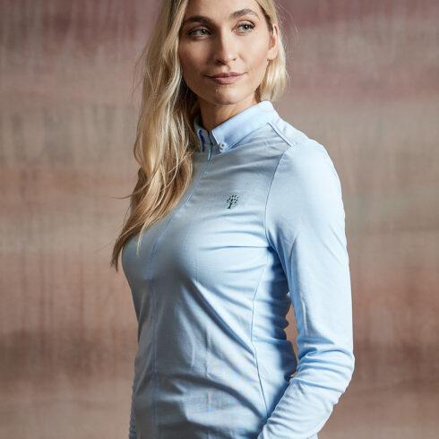 Damen Bluse hellblau