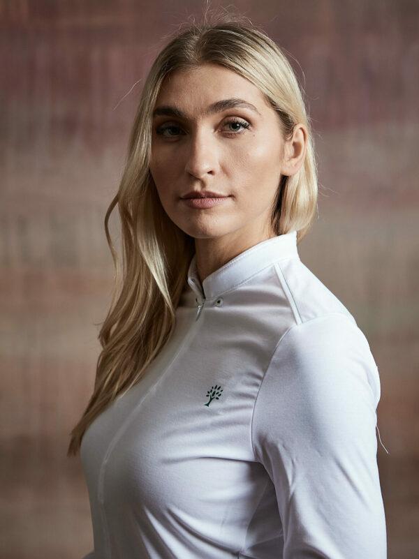 Hemd Damen weiß Kragen