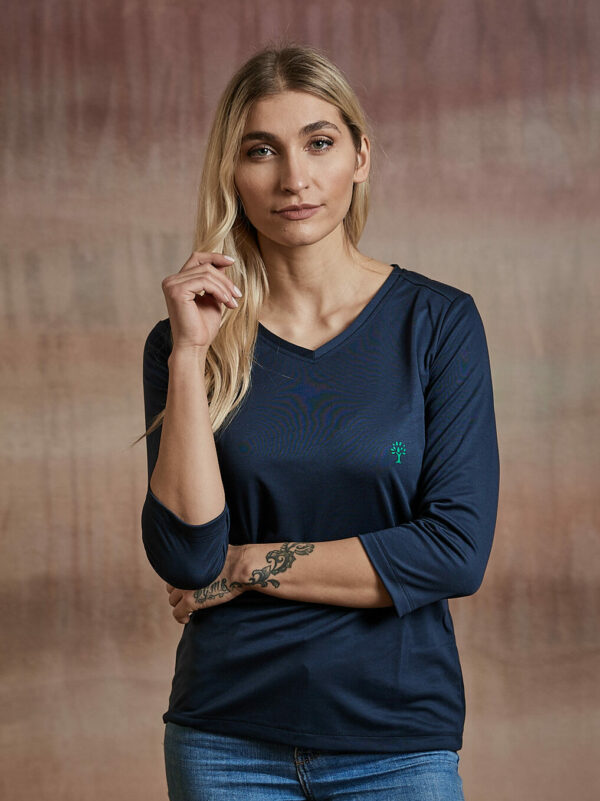 Damen Shirt 3/4-Arm dunkelblau