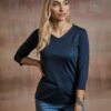 Damen Shirt 3/4 Arm dunkelblau
