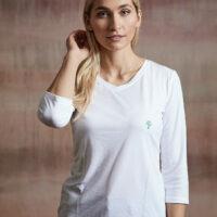 Damen Shirt 3/4 Arm weiß
