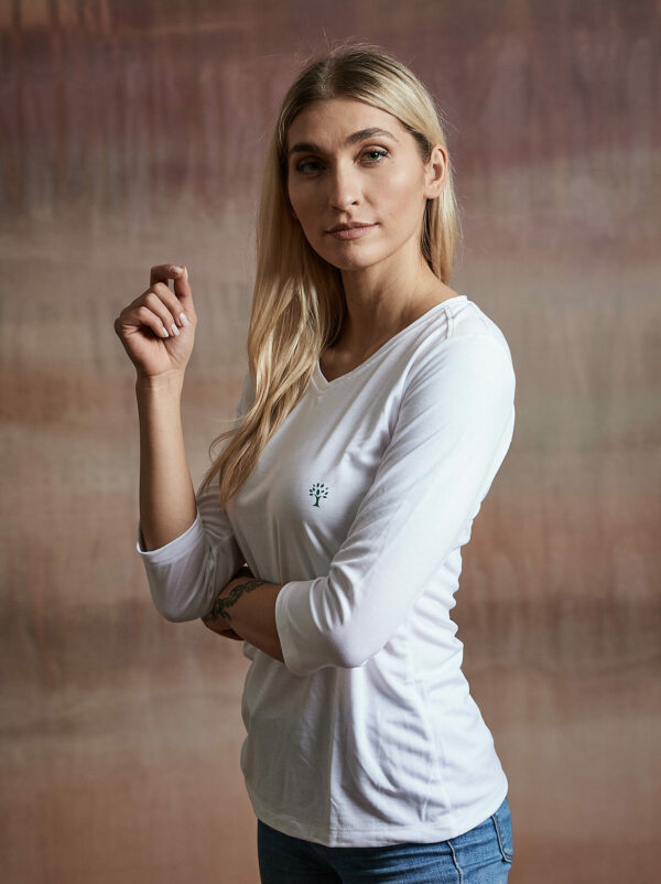 Damen Shirt 3/4-Arm weiß