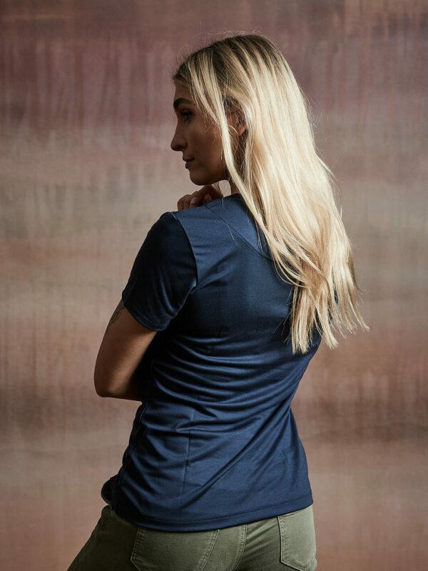 Damen Shirt kurzarm dunkelblau
