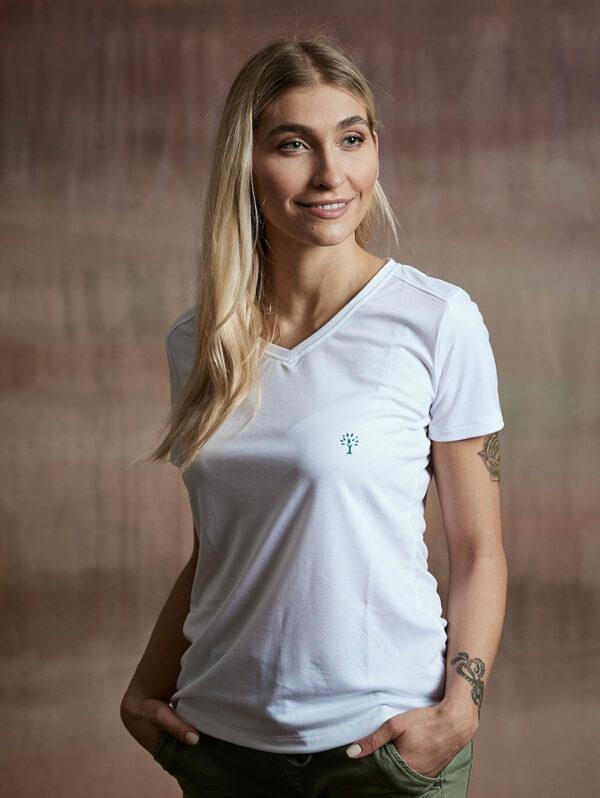 Damen Shirt kurzarm weiß