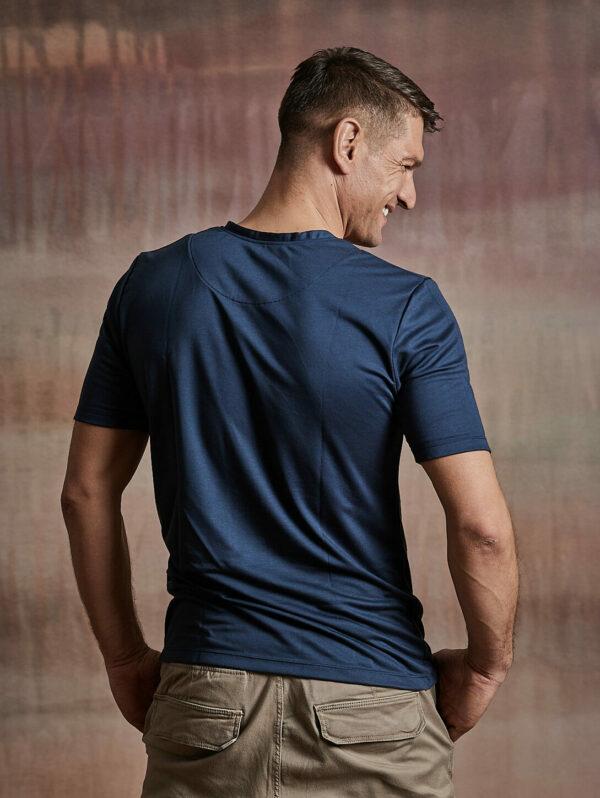 Herren Shirt kurzarm dunkelblau