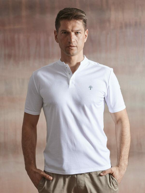 Polo Shirt Herren weiß