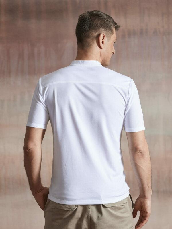 Polo Shirt Herren weiß Rücken