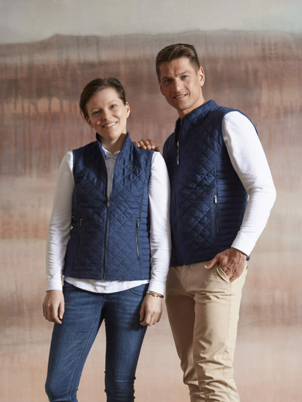 Wood Fashion Gilet dunkelblau