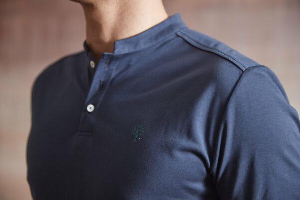 Polo Shirt Herren dunkelblau Detail